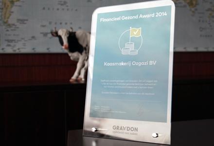 Graydon Financieel Gezond Award 2014 voor Kaasmakerij Özgazi